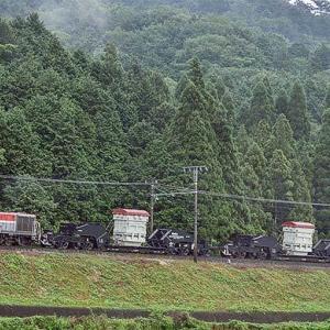 DE10形けん引による特大貨物輸送列車運転