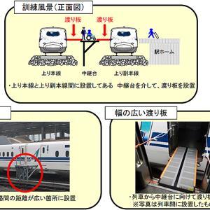 乗客が新幹線列車間を移動する異常時対応訓練、東海道新幹線 新富士駅で7月16日実施