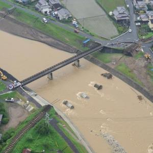 復旧した久大本線が再び被災…筑後川水系の一部で氾濫 2020年7月豪雨