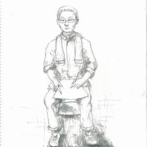 似顔絵描きのおっちゃんと金刀比羅宮奥の院