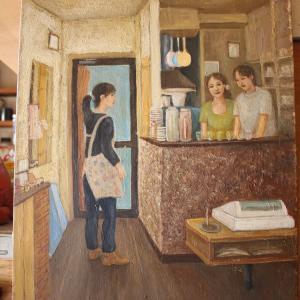 Caféに飾られている絵