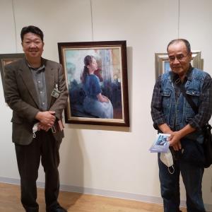 川畑太油彩画展とラ・クルール