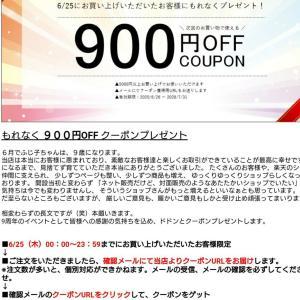 900円クーポンが付与されている!ふじ子ちゃん全品ポイント10倍!