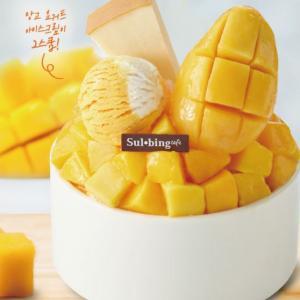 【韓国グルメ/ソルビン】大人気ソルビンの新商品♥マンゴースイーツ!!苺マカロンソルビンも!!