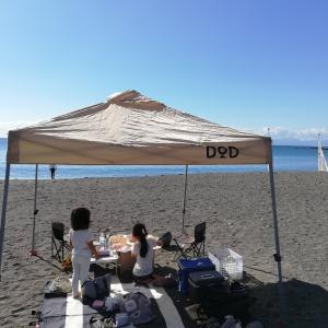 ソレイユの丘の遊具で遊んで、昼は和田長浜海岸でBBQ(後編)