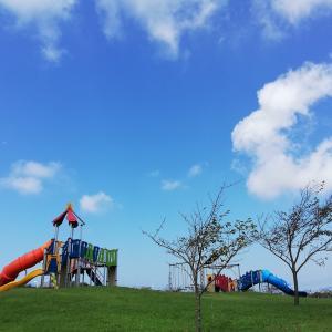 海あそびは少しお休みして…潮風スポーツ公園で遊ぼう