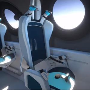ヴァージン・ギャラクティック社、宇宙旅行客船のキャビンデザインを発表