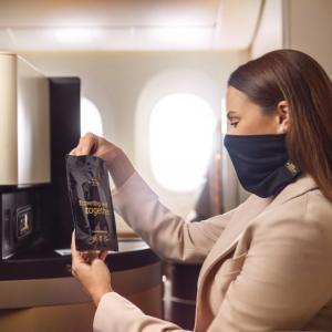 エティハド航空、バリアースヌードをプレミアムクラスの乗客へ配付