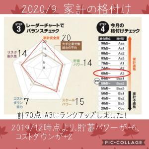 【家計管理】家計の格付け  2020/9