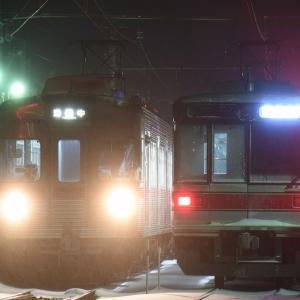 【長野電鉄】新旧日比谷線交換風景