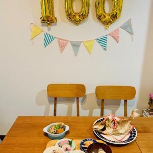 自宅でお祝い!100日のお祝いとお食い初め