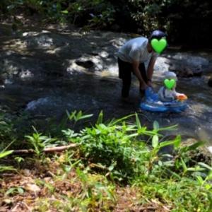 【夏休み2日目】お友達と川遊び♪自然に感謝