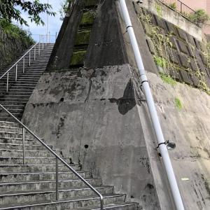 前野町六丁目 お城の石段風階段