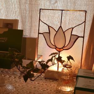 ステンドグラス ランプの灯り
