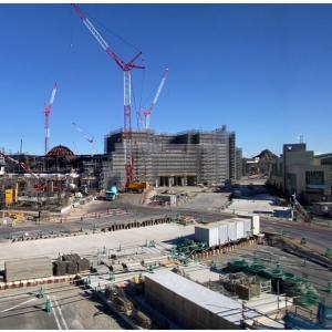TDS新エリア、大きなホテルがどーん!とできてます。