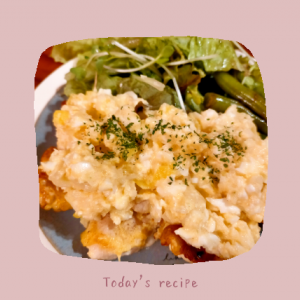 マヨネーズを使わないタルタルソース♡鶏むね肉のタルタル風【レシピ】