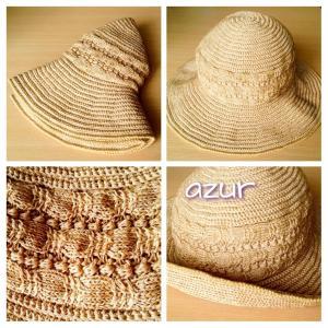 姪に編んだ帽子