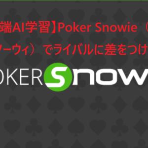 【最先端AI学習】Poker Snowie(ポーカースノーウィ)でライバルに差をつけろ!