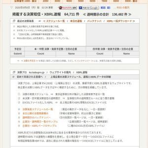 株式投資情報サイトの紹介(決算プロ)