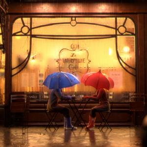 PIXAR『ブルー・アンブレラ』 青い傘と赤い傘の恋物語