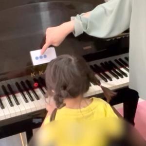 【3歳になったばかり!】年少々さんのピアノレッスン
