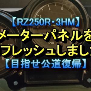 【RZ250R・3HM】メーターパネルをリフレッシュしました【目指せ公道復帰】