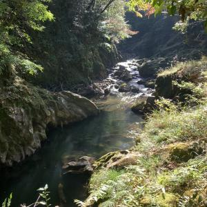 秋の「加江田渓谷」を散策してきた