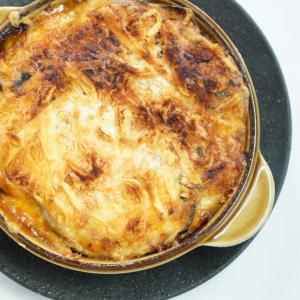ナスのパルミジャーナ(ナス・トマト・チーズの重ね焼き)