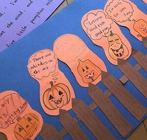 ハロウィン  Five Little Pumpkins  の歌詞と意味。発表にも使えるチャンツです