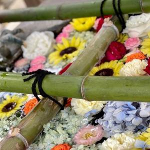 花手水舎とまあるい狛犬さん☆彦島八幡宮/下関市・彦島エリア