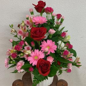 母の日にお花のプレゼント。