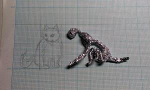 動物フィギュア ネコを作る 6