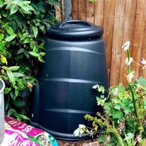 野菜くずを堆肥として土に返す