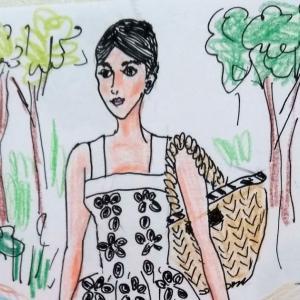 森で見かけた美少女スタイル