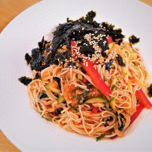 お家でつくる本格韓国料理 第5弾! そうめんで作る辛さ控えめ『ビビン麺』