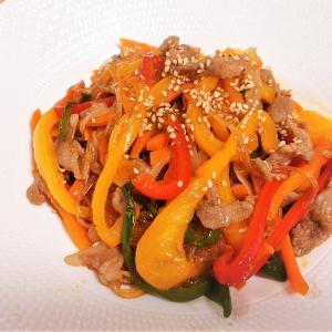 お家でつくる本格韓国料理 第7弾!豚肉と野菜たっぷり彩り鮮やか『チャプチェ』