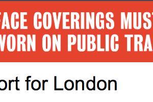 6月15日から、ロンドン公共交通機関で、ついに、マスク着用が義務化に。