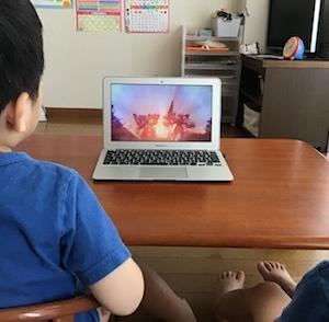 映画「キラメイジャーVSリュウソウジャー」を有料配信で視聴(4歳3ヶ月)