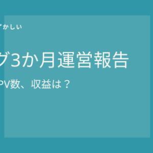 ブログ運営報告【3か月目のPVと収益を赤裸々公開】