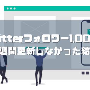 【フォロワー1,000人達成】ブログを2週間休んだ結果!!