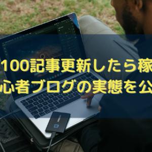 ブログ100記事更新したら稼げる?【初心者ブログの実態を公開】