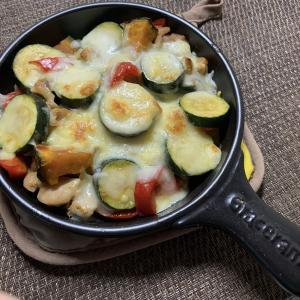 鶏肉と野菜のチーズ照り焼き