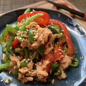 ピーマンとツナの中華風サラダ
