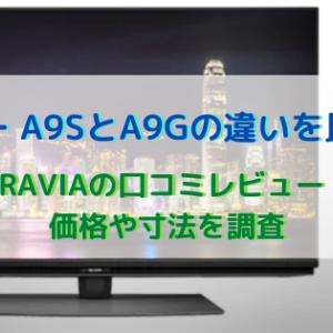 ソニー A9SとA9Gの違いを比較!BRAVIAの口コミレビュー・価格や寸法を調査