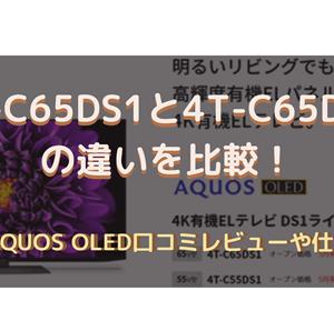 4T-C65DS1と4T-C65DQ1の違いを比較!シャープAQUOS OLED口コミや仕様を調査