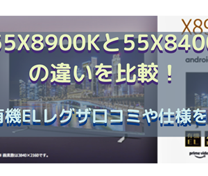 55X8900Kと55X8400の違いを比較!4K有機ELレグザ口コミや仕様を調査