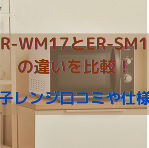 ER-WM17とER-SM17の違いを比較!東芝電子レンジ口コミや仕様を調査