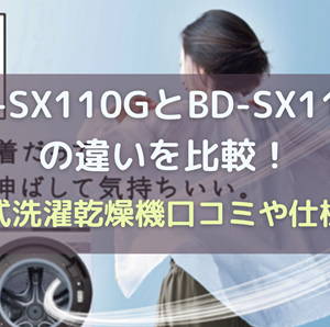 BD-SX110GとBD-SX110Fの違いを比較!ドラム式洗濯乾燥機口コミや仕様を調査