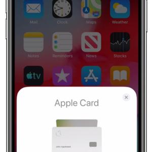 Apple Cardを有効にする方法 (US2021/0042733)
