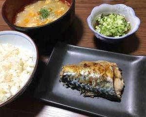 今日の晩ご飯(501):焼きさば